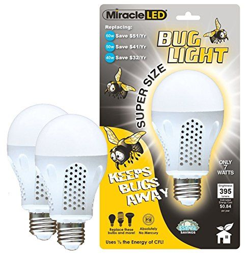 Miracle Led 604734 7 Watt Super Bug Light Bug Free Porch And Patio Light Yellgy5834 6dfg293424 Find Out More About The Patio Lighting Porch Patio Bug Free