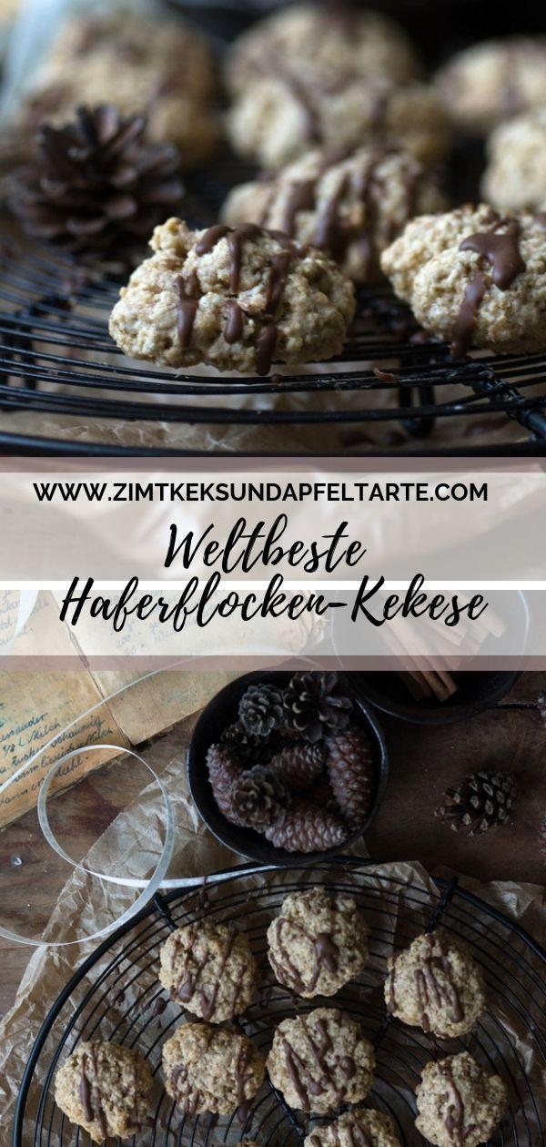 Zimt-Haferflocken-Kekse - einfach, schnell und lecker #kekseweihnachtenkinder