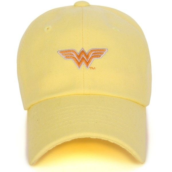 3edbbf49c ililily Embroidered Wonder Woman Logo Curved Adjustable Strap Hat ...
