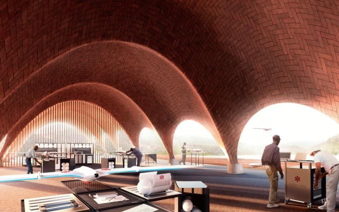Proposals for Droneport project by Norman Foster. Image courtesy of Foster + Partners. Click above to see larger image.