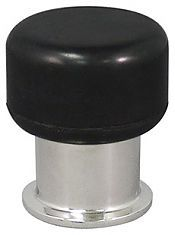 INOX DSIX05-32 Floor Mount or Wall Mount Door Stop Polished Stainless Steel
