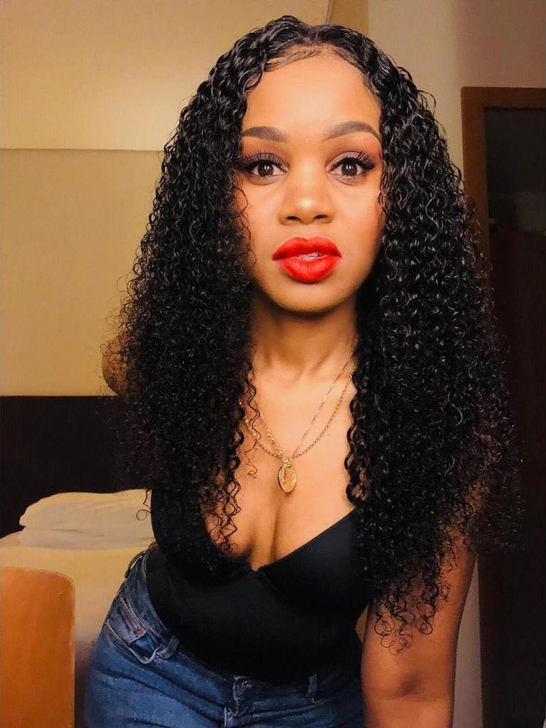 Thriving Hair Virgin Human Hair Wigs Tiny Curly Lace Front