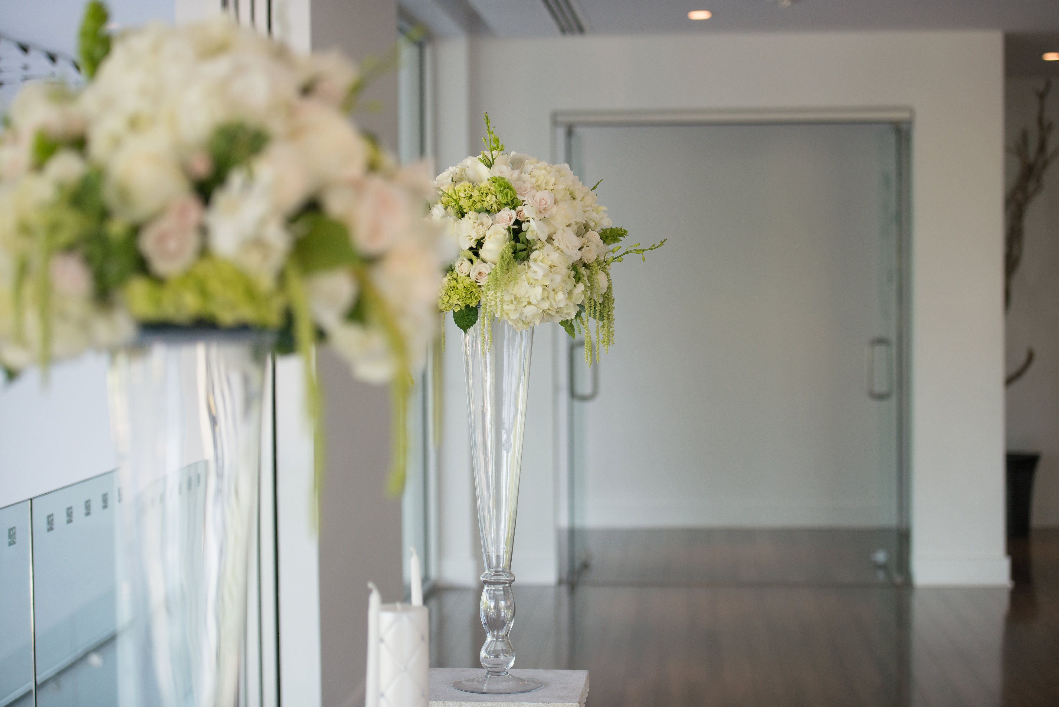 The Gallery White Flower Arrangements Tall Glass Vases Modern Flower Arrangements