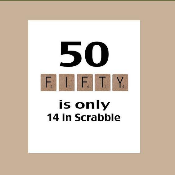 Karte 50 Geburtstag.50th Birthday Card Milestone Birthday Scrabble Birthday Card The