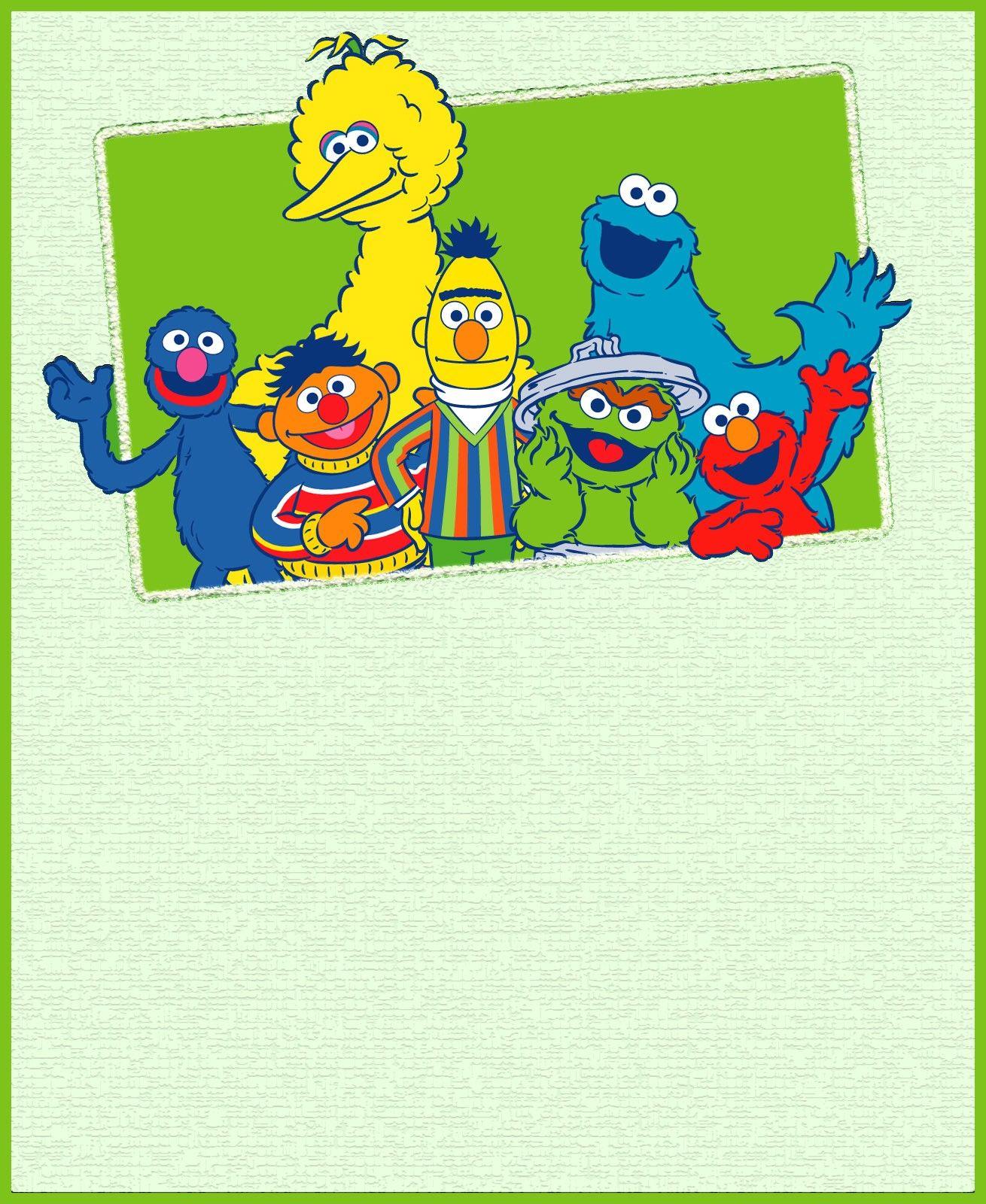 Printable Sesame Street Party Invitation Card Jacob S 1st Birthday