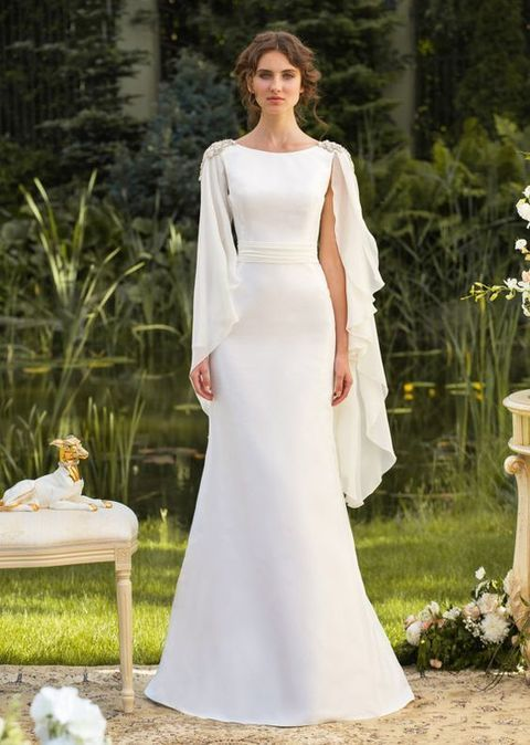 30 Flowing GrecianStyled Wedding Dresses  Dresses