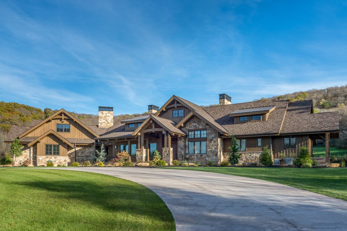 Plan 95046rw Luxurious Mountain Ranch Home Plan With Lower Level