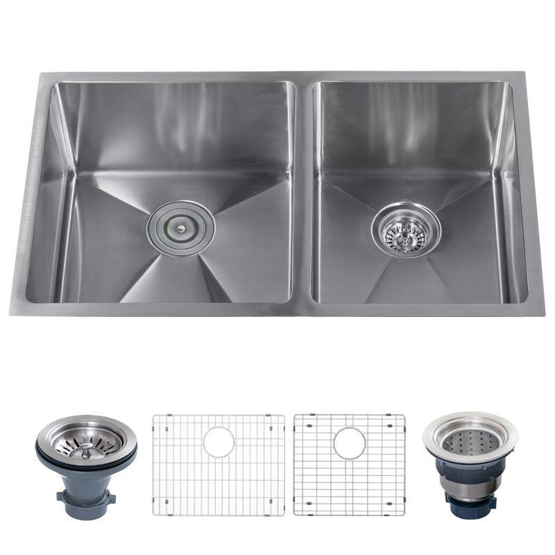 32 Undermount Double Basin Stainless Steel Kitchen