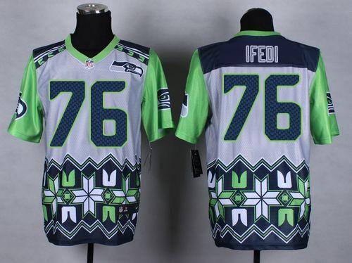 nfl jerseys youth nike seahawks 76 germain ifedi grey mens stitched nfl elite noble fashion