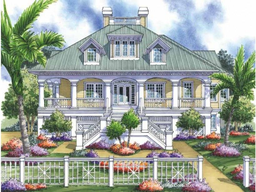 Eplans low country house plan perfect vacation hideaway for Low country farmhouse plans