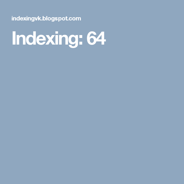 Indexing: 64