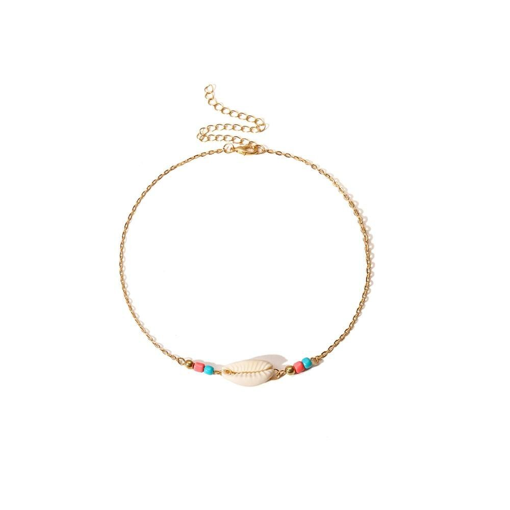 Photo of Bohemian Multi Layered Shell Choker Beads Chain Necklace – Simple Golden