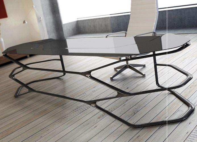Carbon Fiber Desk I Want It Desain Kantor Rumah Dekor