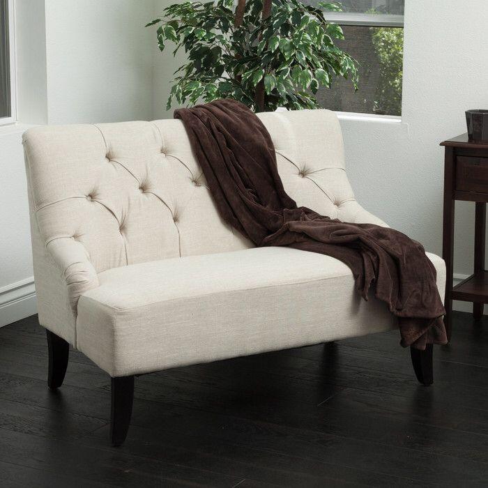 Lynnhaven Settee | Fabric settee, Furniture