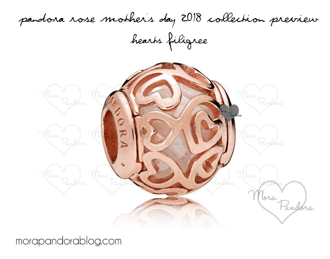 Pandora rose motherus day hearts filigree pandora bracelet