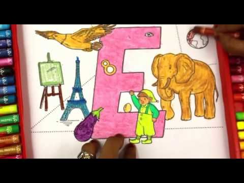 Colouring Pages For Toddlers Alphabet : Coloring and learning letter esuper simple abcsalphabet for kids