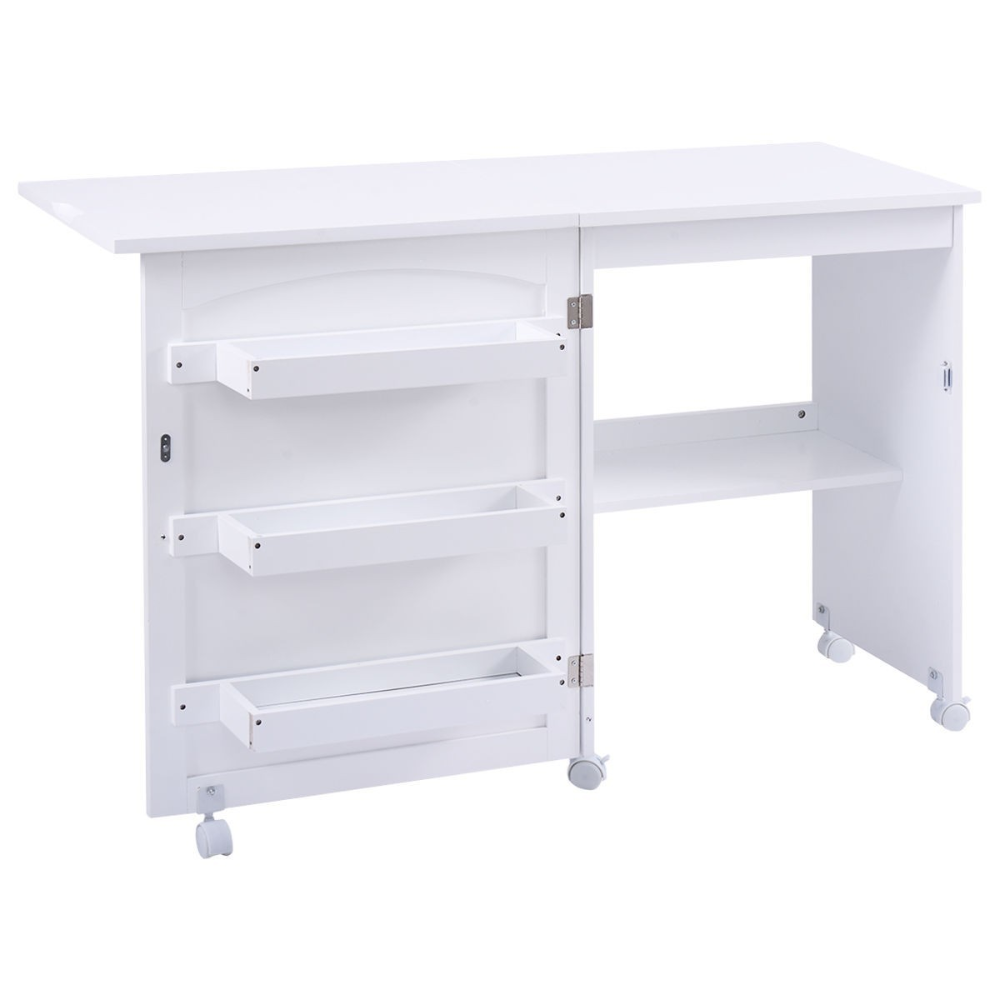 Arts Crafts Sewing Storage Cabinet Shelves Table For Small