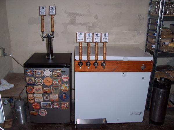 Kegerator build diy homebrew i need to build one of for Home bar with kegerator space