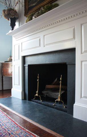Historic Gray Structural Slate Slate Fireplace Slate Fireplace