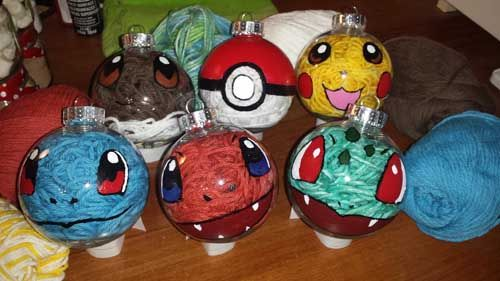 Easy to Make Pokemon Christmas Ornaments - (Don't forget your favorite starter!)