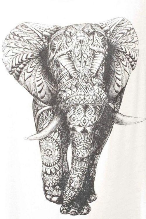 elefant muster 1.jpg (500×750)   Hintergrund   Pinterest   Elefanten ...