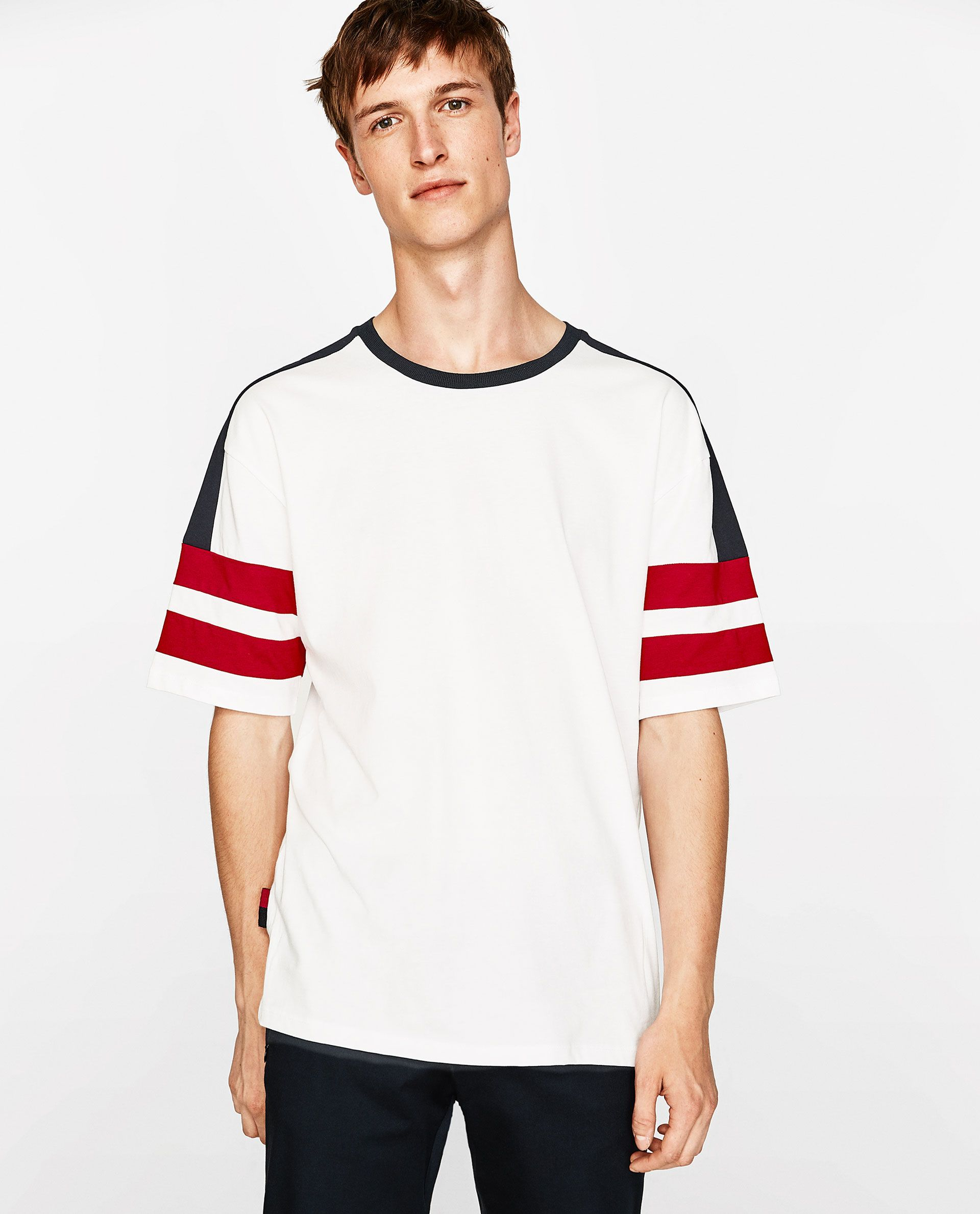 55a8acf5 Image 2 of COLOUR BLOCK T-SHIRT from Zara | Vintage Ralph Lauren ...