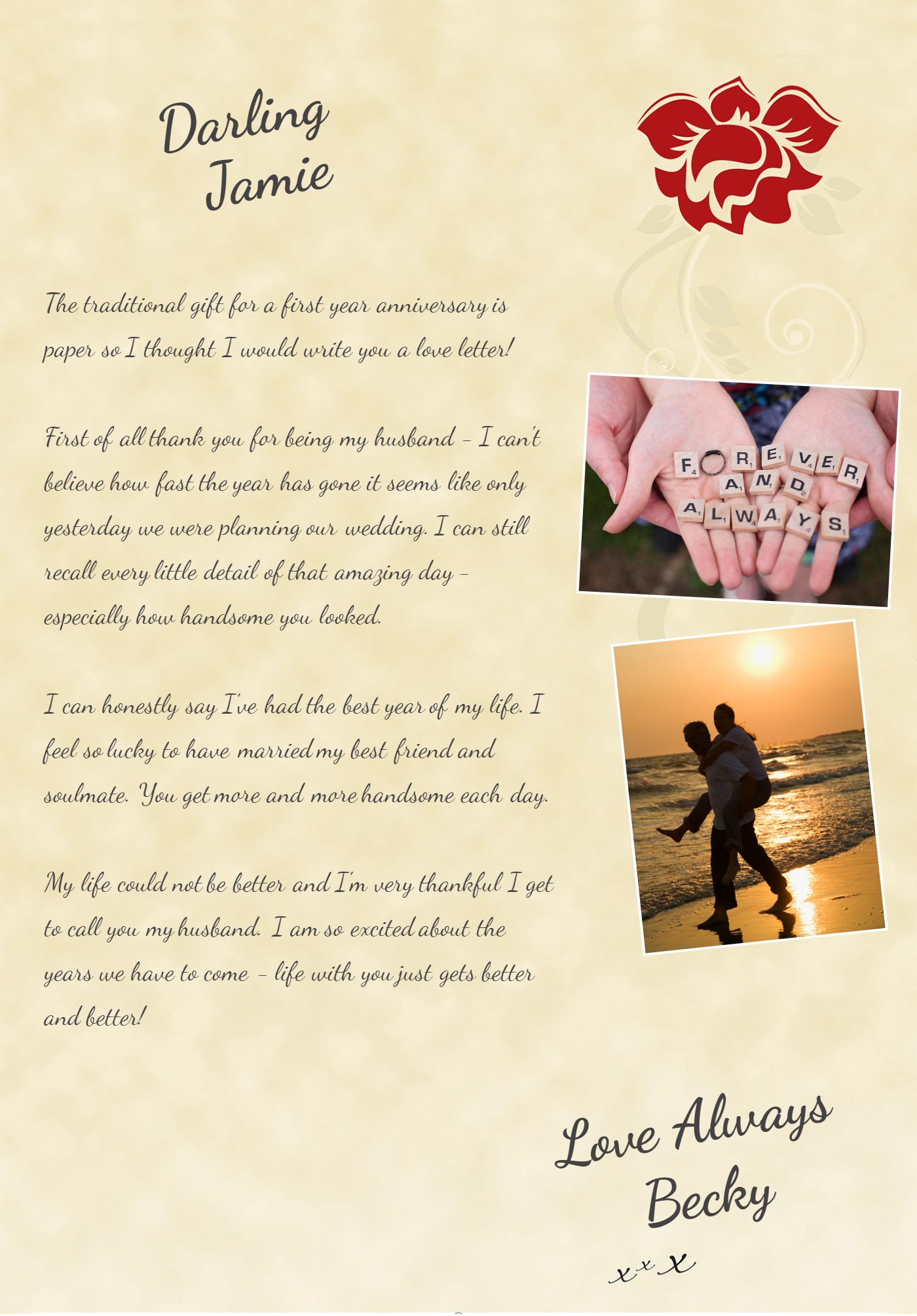 Wife To Husband First Anniversary Personalized Romantic Gifts Romantic Gifts For Him Romantic Gifts