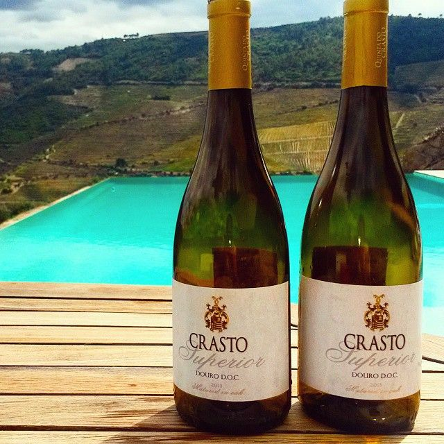 Crasto Superior White and Infinite Pool at Quinta do Crasto, Douro, Portugal. #Douro #Portugal #Wine #WhiteWine #Vinho #VinhoBranco