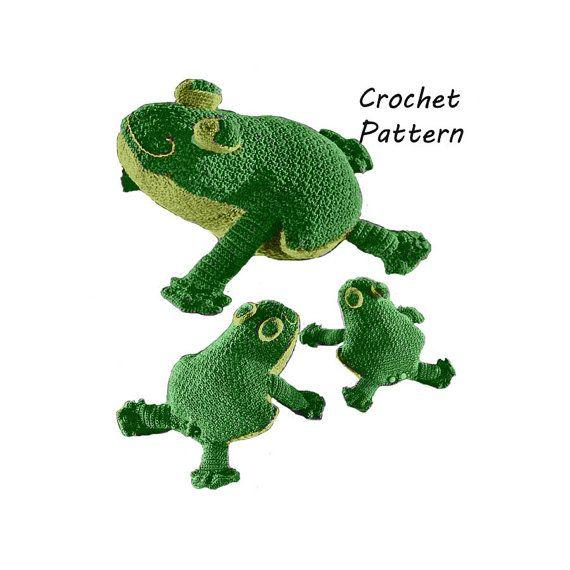 Toy Frog, Doorstop, Decoration Crochet Pattern || Vintage 1970\'s ...