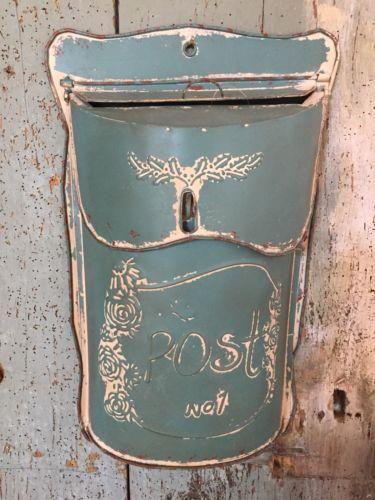 Briefkasten Shabby Chic : nostalgie briefkasten blau tuerkis metall shabby chic ~ Watch28wear.com Haus und Dekorationen