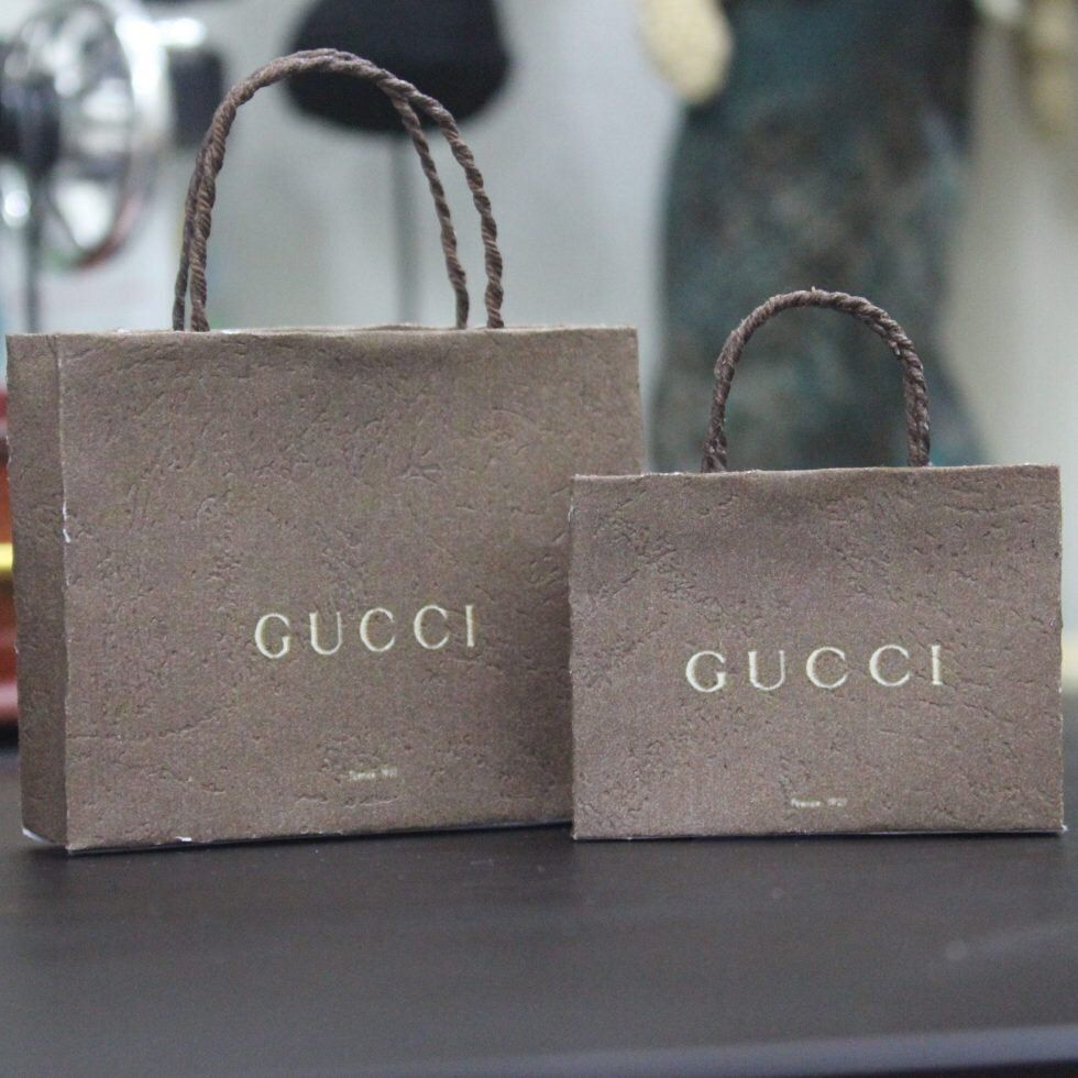 SMALL Gucci miniature shopping bag template printable in