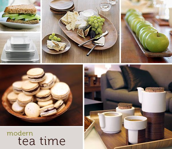 modern tea party like that all the food matches the color theme