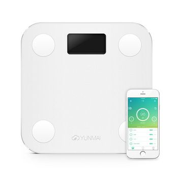 premium Original YUNMAI mini smart weighing scale digital scale Body fat health scale support Android4.3 IOS7.0 Bluetooth 4.0