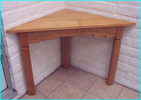 Corner Table... but taller and to go behind the couch. | Triangle ...