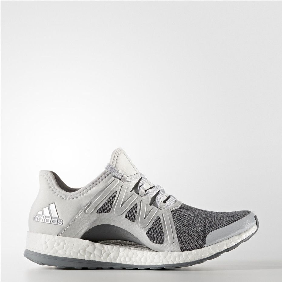 Adidas PureBOOST Xpose Shoes (Clear Grey / Silver Metallic / Mid Grey)