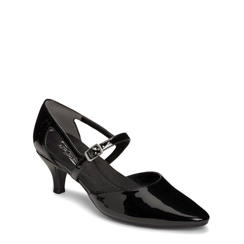 c94a58750367 Aerosoles Women s Ardent Medium Wide Pump Shoes (Black Patent) - 10.5 M