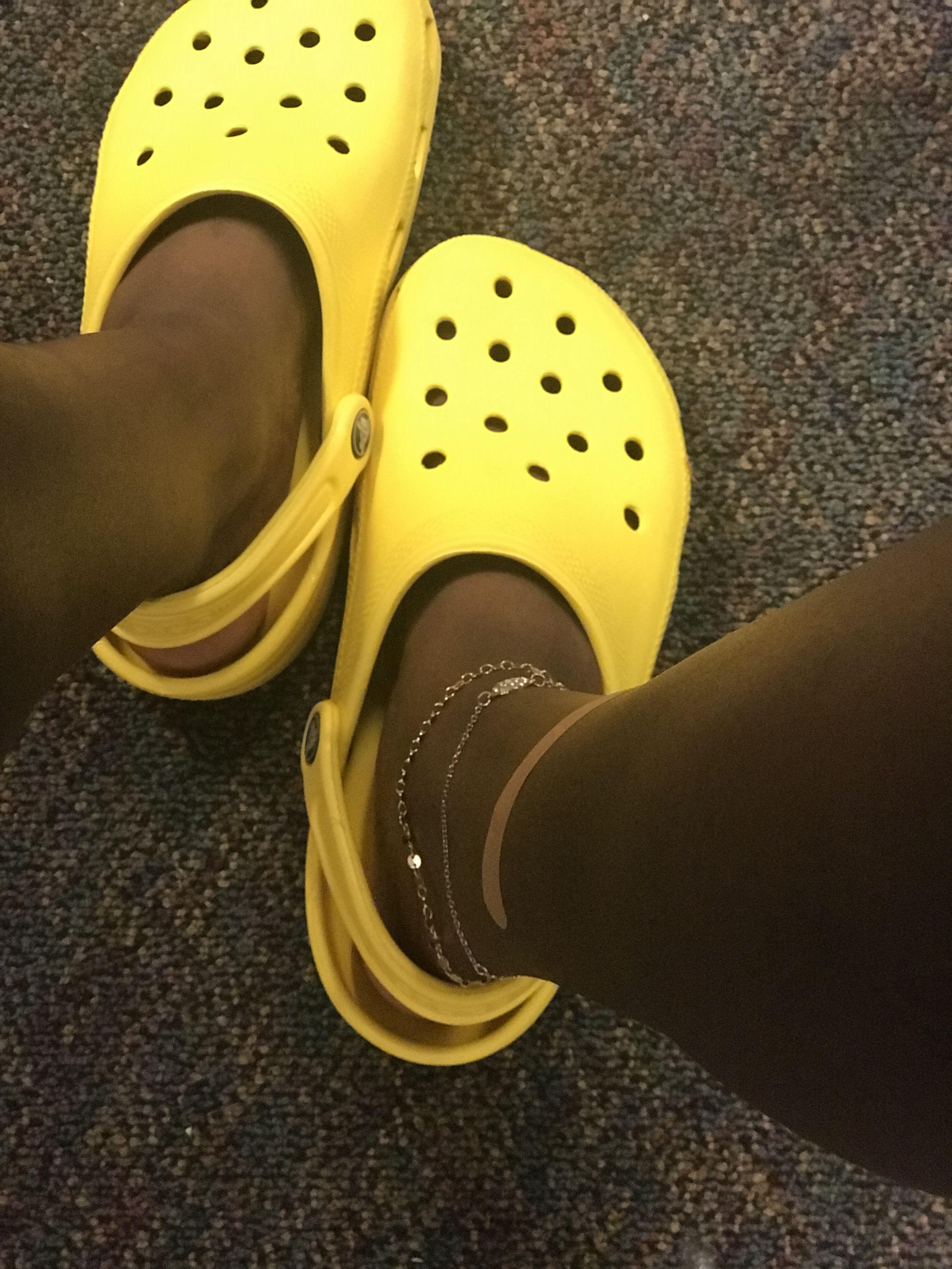 Yellow crocs 🌻 | Yellow crocs, Crocs