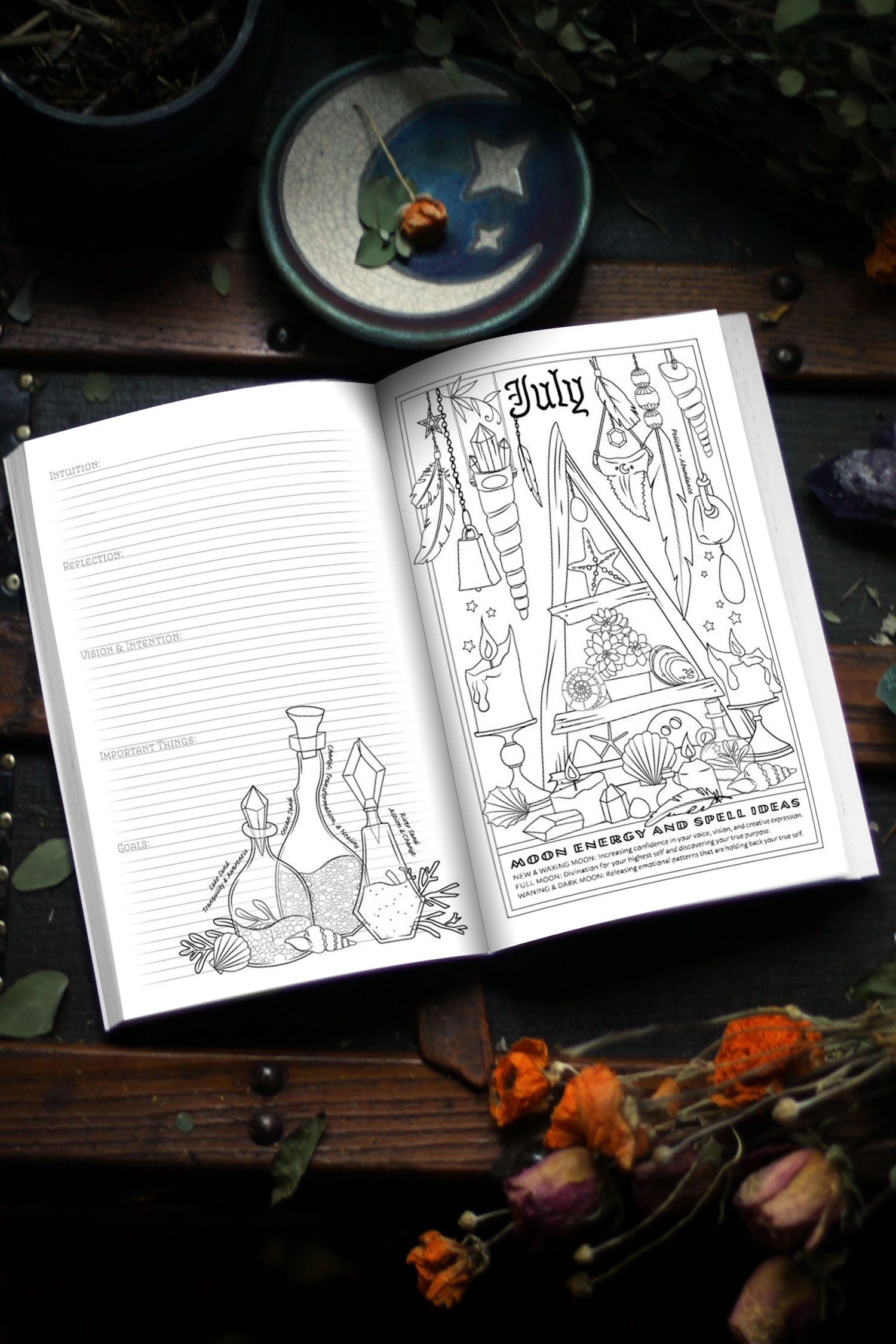 Planner For A Magical 2019 Book Of Shadows Coloring Books Coloring Book Pages