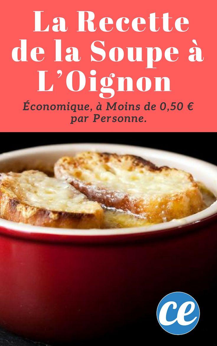 Conomique ma recette de la soupe l oignon moins de 0 - Cuisine economique 1001 recettes ...