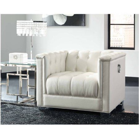 Sensational Coaster Company Chaviano Chair Pearl White Products Alphanode Cool Chair Designs And Ideas Alphanodeonline