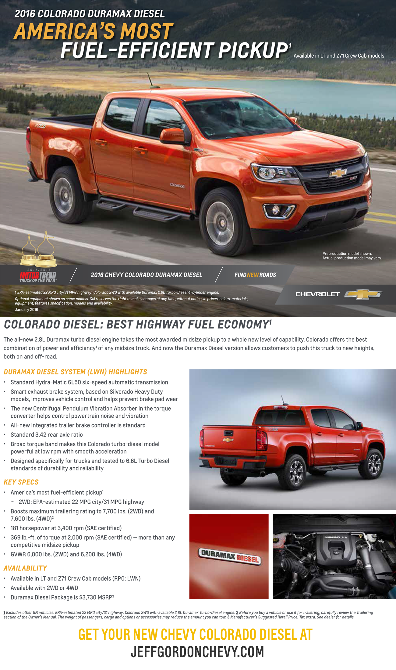 2016 chevrolet colorado duramax diesel america 39 s most fuel efficient pickup get yours at. Black Bedroom Furniture Sets. Home Design Ideas