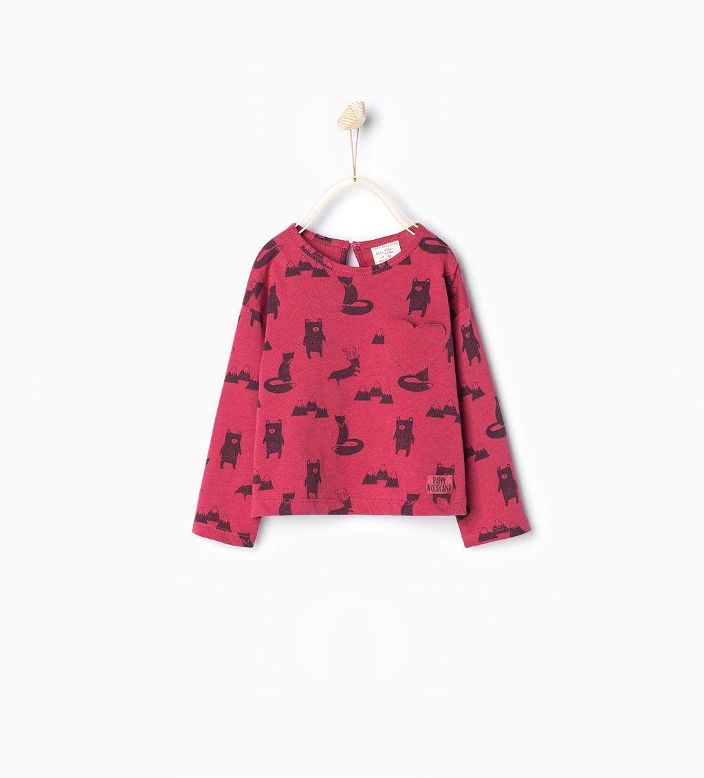 ZARA - COLECÇÃO AW15 - T-Shirt estampada