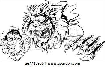 Vector Clipart Lion Claw Breakthrough Vector Illustration Gg77839304 Lion Images Vector Illustration Vector Clipart