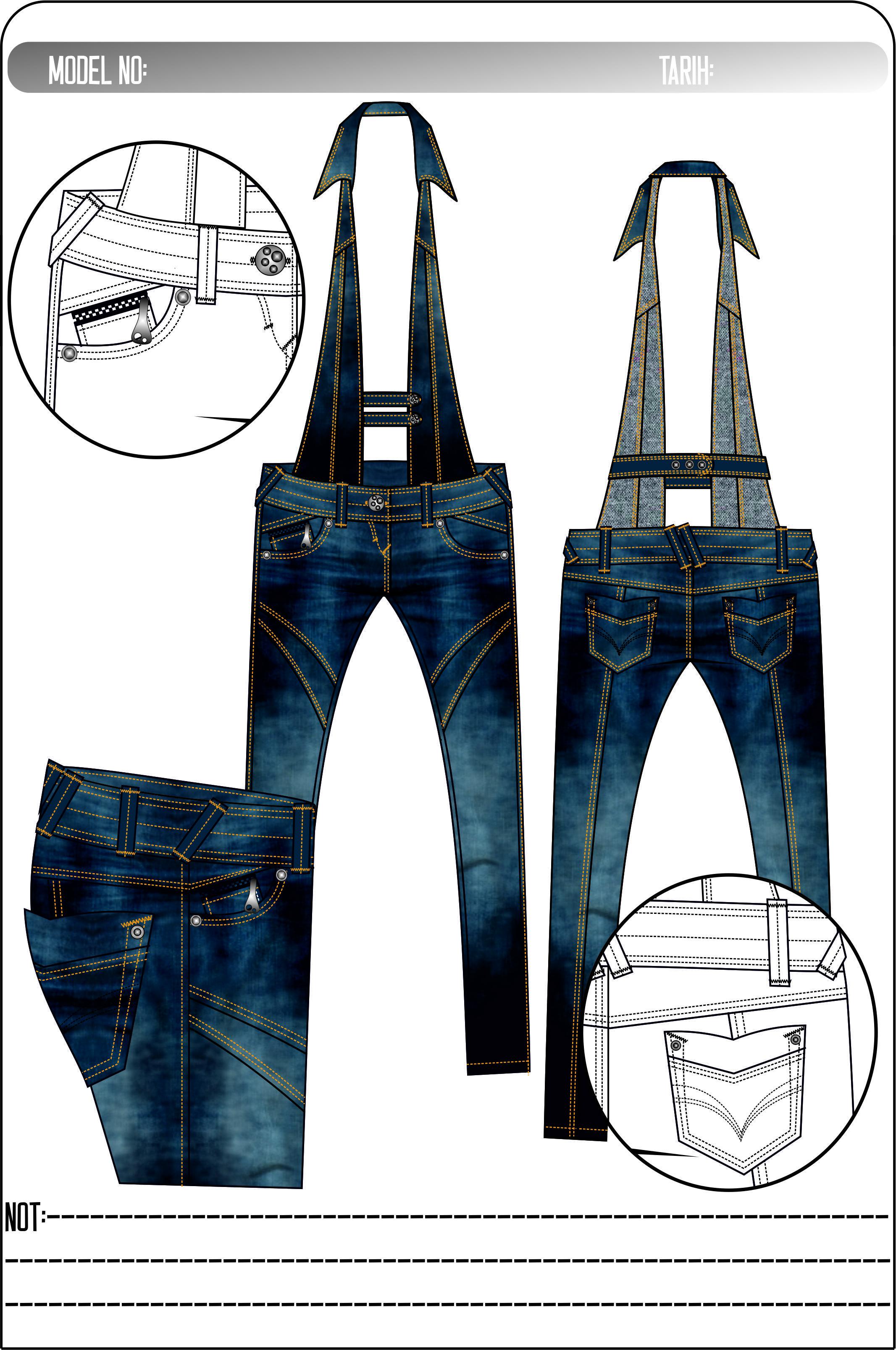 Pin de tecnico en Pantalones | Pinterest | Jeans femeninos, Diseño ...