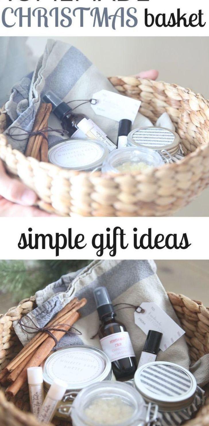 DIY Christmas Gift Basket #naturalchristmasgift #homemade #diygiftideas #christmasgiftideas #essentialoilgiffts #natural #healthylife