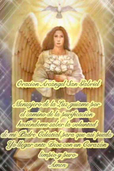 Oracion Al Arcangel San Gabriel Imagenes De Angeles San Gabriel