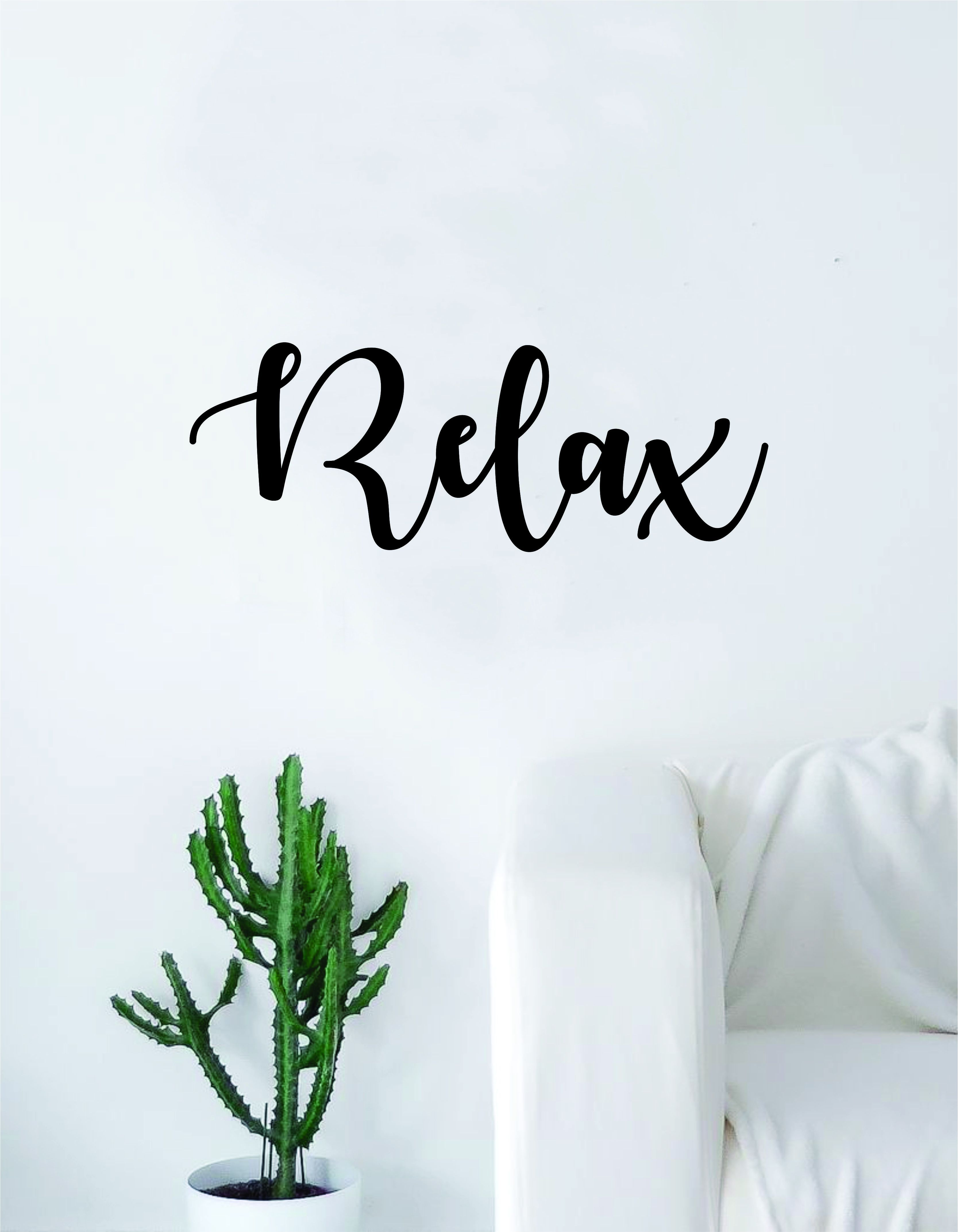 Relax v quote decal sticker wall vinyl art home decor decoration