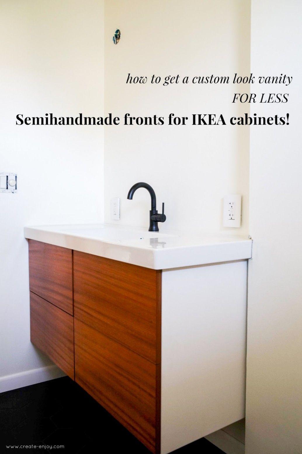 Ikea Build Your Own Bathroom Vanity in 7  Custom bathroom