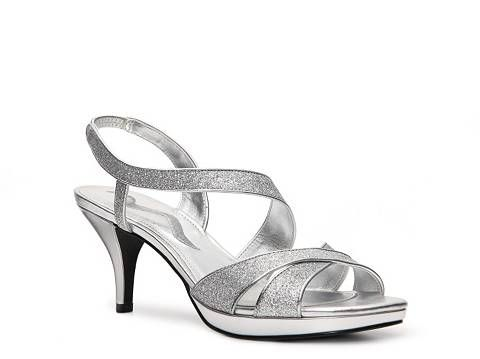 Nina Nadine Sandal Dsw 40 00 Bridal Shoes Silver Strappy Shoes Bridesmaid Shoes
