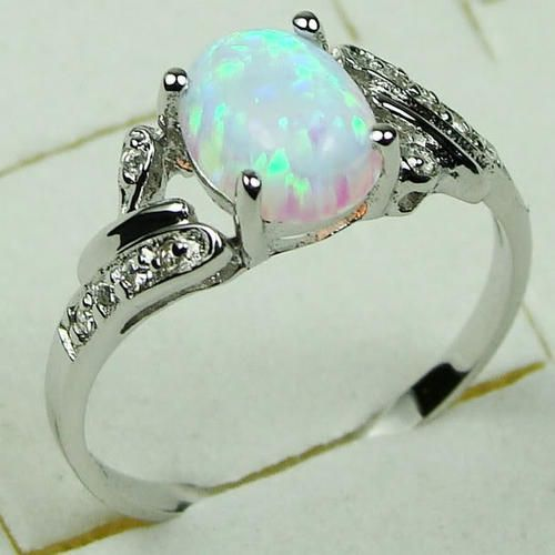 Other Rings MARYKAY GORGEOUS WHITE FIRE OPAL RING SET IN
